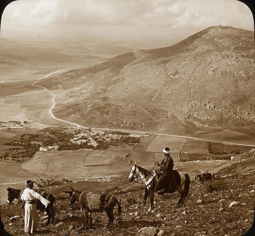 RDRD Bible Study Mount Gerizim from Mount Ebal circa 1915