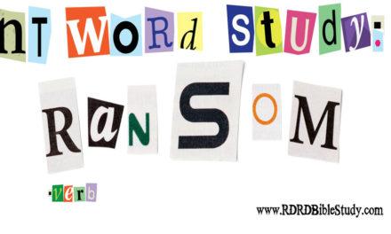 NT Word Study: RANSOM