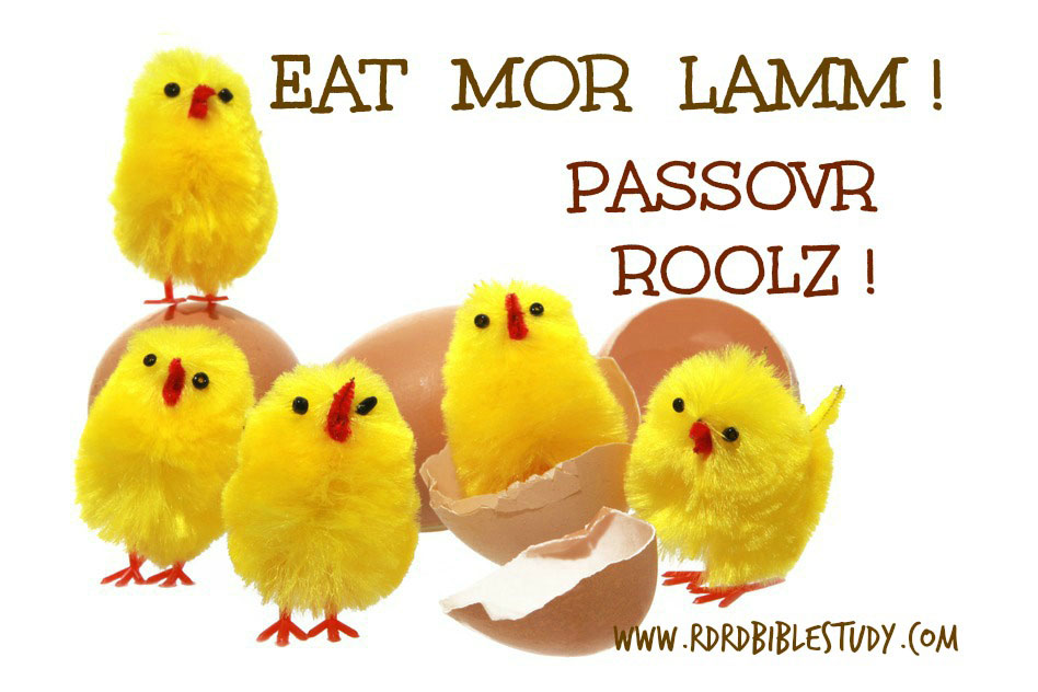 RDRD Bible Study When Easter Chicks Say Eat More Lamb