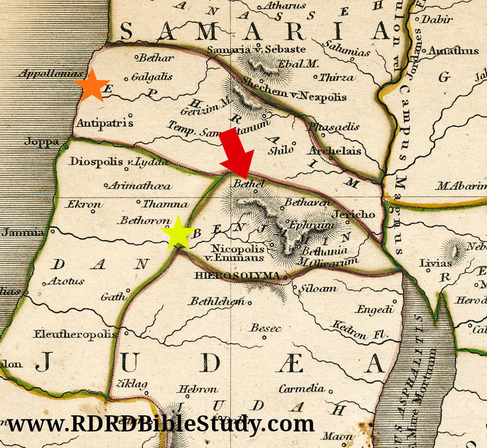 RDRD Bible Study Bethel Map