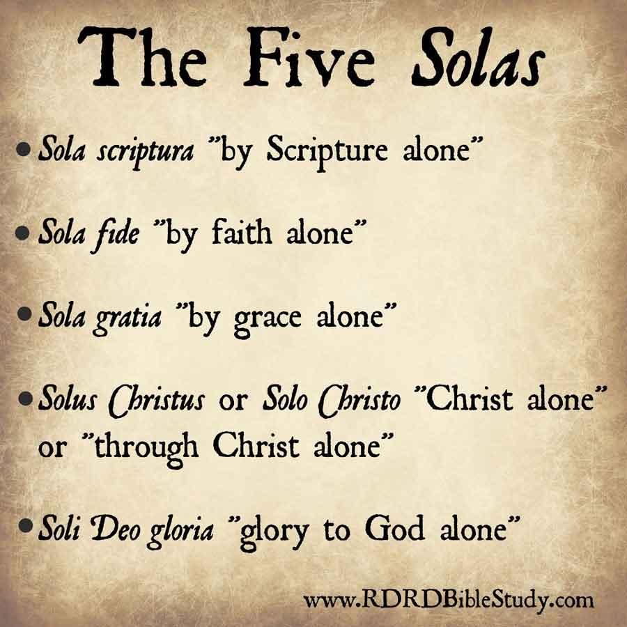 RDRD Bible Study John Wycliffe Five Solas