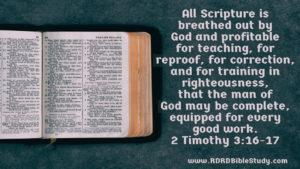 RDRD Bible Study 2 Timothy 3-16-17