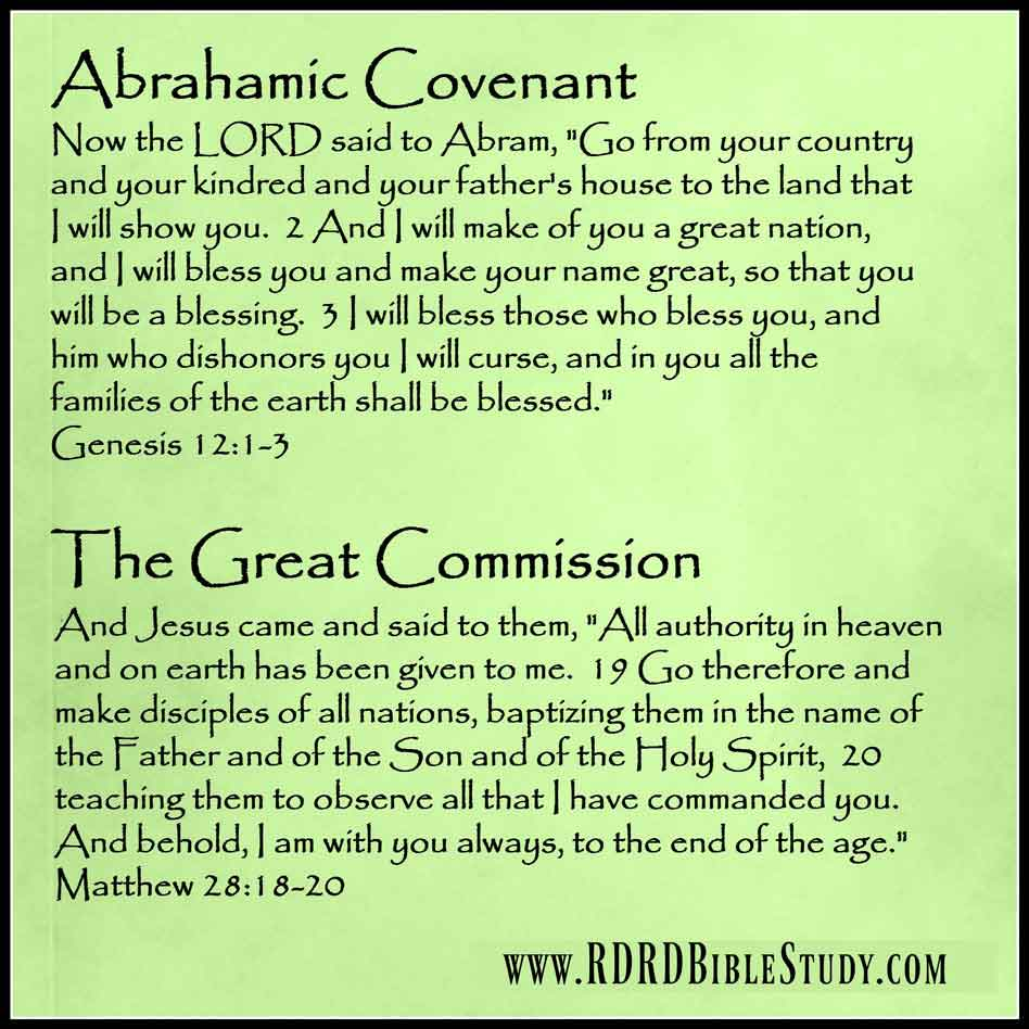 RDRD Bible Study Abrahamic Covenant and Great Commission