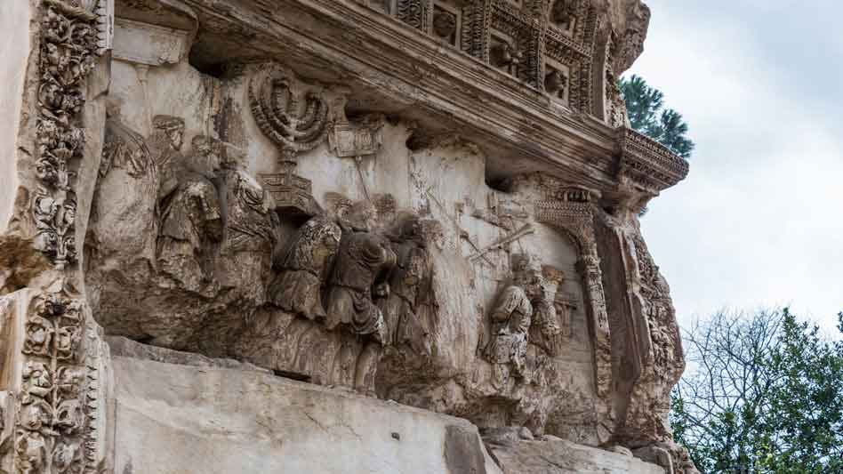 RDRD Bible Study DTM AD 70 Arch of Titus From Angle