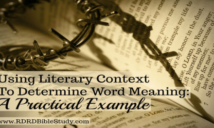 Using Literary Context To Determine Word Meaning: A Practical Example