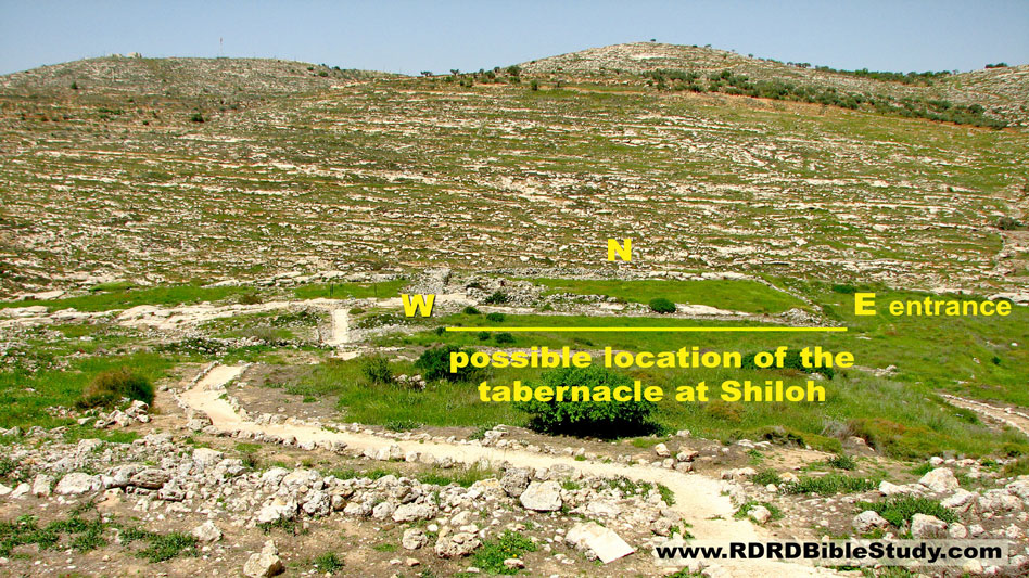 RDRD Bible Study Shiloh Israel Possible Location Of Tabernacle